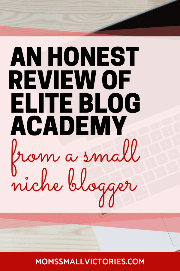 So many bloggers have huge success with Elite Blog Academy. It can be more difficult when you're a small niche blogger. Check out my honest Elite Blog Academy Review including pros and cons, my accomplishments and failures. Get a FREE Investment Decision Matrix so you can calculate whether EBA is a wise investment for you and your blog.
