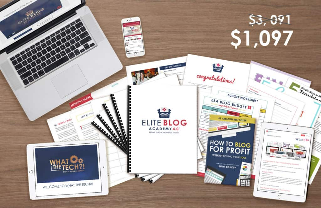 Elite Blog Academy 4.0 includes 12 instructional videos, 12 Q & A videos, 36 actionable assignments to help you achieve results, and 23 extra bonuses to dive deeper into blogging topics and get your blog organized.The course covers everything from how to find your ideal reader to writing killer content to monetizing your blog with the highest ROI tasks for the least amount of time,  developing sales and marketing strategies to grow your business and guidance on tools you need to grow your business with a clear mission.